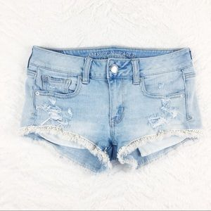 American Eagle | Distressed Shortie Shorts